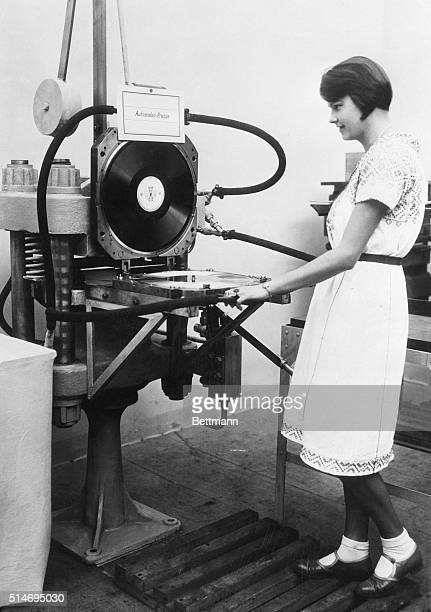 9/3/30Berlin Germany The most modern gramaphone record making machine It is automatic and works with compressed air and electric heat It is capable...