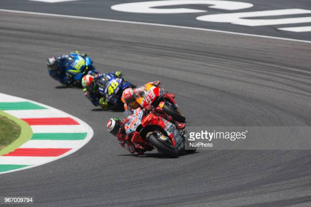 93Marc MARQUEZ Repsol Honda Team 99Jorge LORENZO Ducati TeamDucati during Race MotoGP at Mugello International Cuircuit for the sixth round of MotoGP...