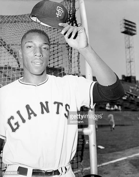 San Francisco, CA: Rookie slugger Willie McCovey of the San Francisco Giants shown prior to batting practice, in tuneup for night tilt against the...