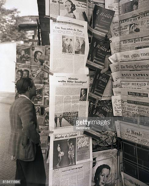 9/6/1949Berlin Germany Hitler is by no means dead as far as bestselling Berlin newsstand publications are concerned This display on fashionable...