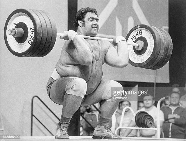 9/6/1972Munich Germany Soviet Union's Vassili Alexeev sets a new Olympic world record lifting a total of 650kg during weight lifting competition in...