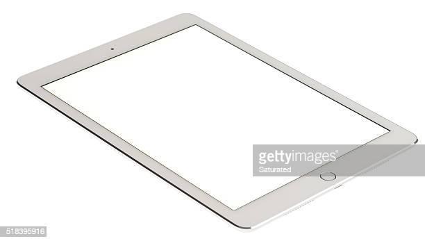 9.7- Zoll iPad Pro in silber und weiß mit leeren Bildschirm