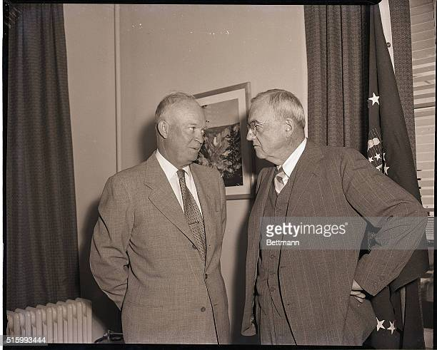 9/9/1953Lowry Air Force Base Colorado President Eisenhower and Secretary of State John Foster Dulles have a serious conference at the Summer White...