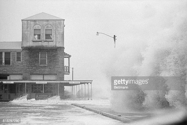 9/9/1964St Augustine Beach FLHuge waves pound a waterfront hotel as Hurricane Dora's fury is felt