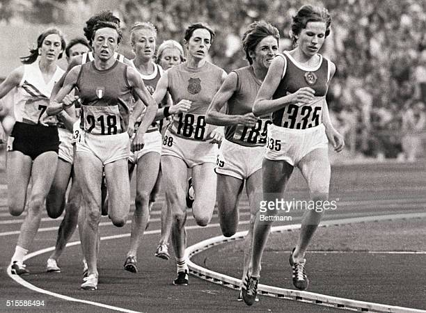 9/9/1972Munich Germany Setting a new world record and winning the gold medal for the women's 1500 meter event at the XXth Olympic Games is Russia's...