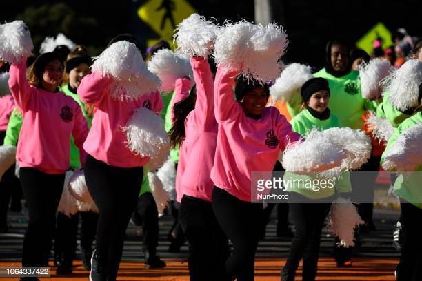 99th 6ABC/Dunkin' Donuts Annual Thanksgiving Day parade in Philadelphia PA on November 22 2018 The annual parade on Benjamin Franklin Parkway is the...