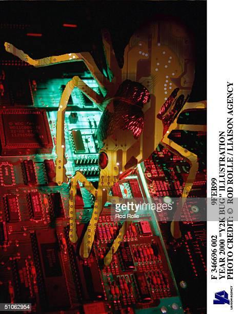 F 346696 002 9Feb99 Year 2000 'Y2K Bug' Illustration