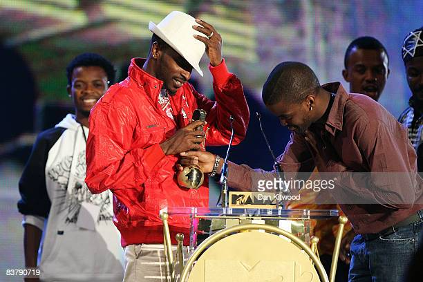 9ice holds his Award for BEst Hip Hop Artist at the MTV Africa Music Awards 2008 at the Abuja Velodrome on November 22 2008 in Abuja Nigeria