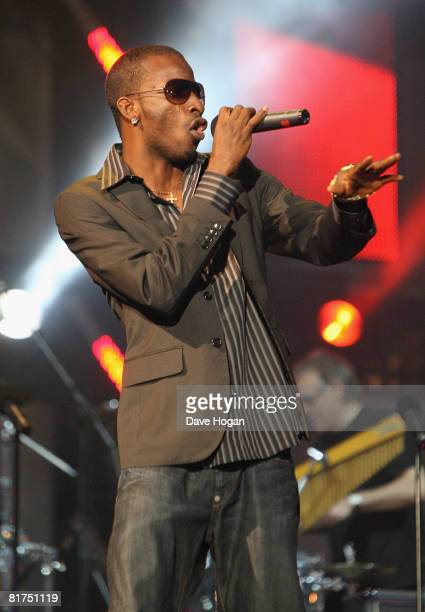 9ice onstage during the 46664 Concert In Celebration Of Nelson Mandela's Life held at Hyde Park on June 27 2008 in London England