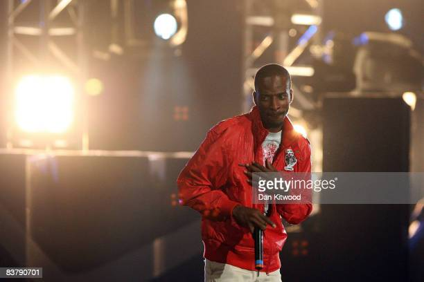 9ice performs on stage at the MTV Africa Music Awards 2008 at the Abuja Velodrome on November 22 2008 in Abuja Nigeria