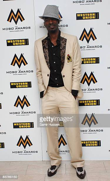 9ice poses at the MOBO Awards 2008 held at Wembley Arena on October 15 2008 in London England