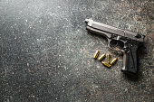 9mm pistol bullets and handgun