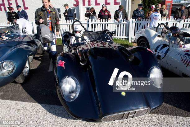 1958 ListerJaguar 'Knobbly' driven by entrant Adam Lindemann in the Sussex Trophy at Goodwood on September 9th 2017 in Chichester England