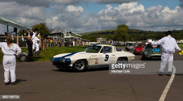 1965 Chevrolet Corvette Sting Ray driven by entrant Craig Davies Jason Plato in the RAC TT Celebration at Goodwood on September 9th 2017 in...