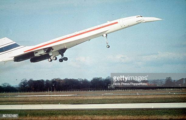 9th APRIL 1969 Concorde on its maiden flight the first commercial supersonic airliner of AngloFrench construction capable of over 2160 km per hour