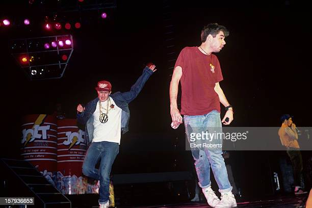 WORCESTER USA 9th APRIL American hip hop group Beastie Boys perform live on stage at the Centrum in Worcester Massachusetts USA on April 9th 1987...