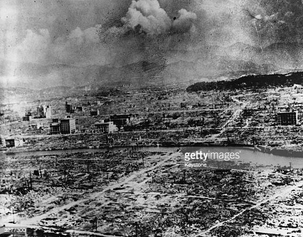 The city of Nagasaki devastated by the atomic bomb