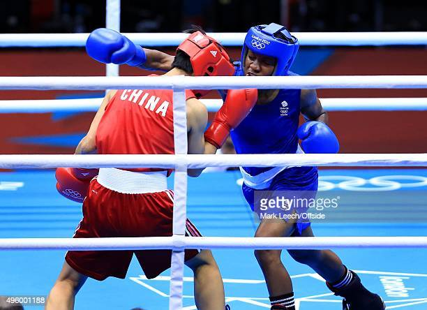 9th August 2012 - London 2012 Olympic Games - Women's Boxing - Flyweight Final - Cancan Ren vs. Nicola Adams -