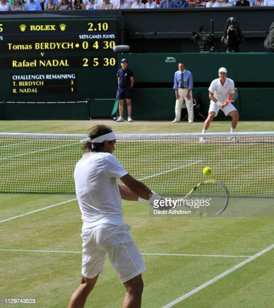 WIMBLEDON 2010 9th day 2/7/2010 MENS FINAL RAFEAL NADEL V TOMAS BERDYCH RAFEAL NADEL WINS TO BECOME CHAMPION