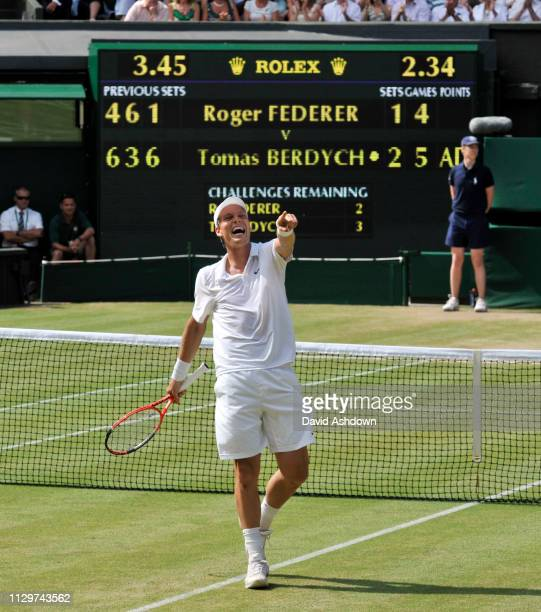 9th day. 30/6/2010. RODGER FEDERER V THOMAS BERDYCH. BERDYCH WINS KNOCING OUT RODGER FEDERER.