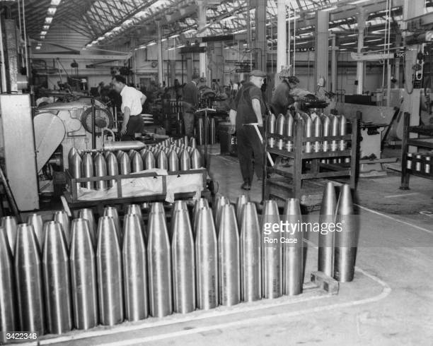The shell production shop in the Royal Ordnance Factory at Woolwich which is being closed down to make room for new housing