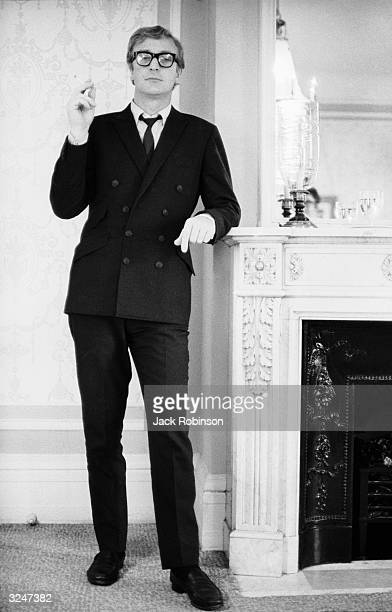 British actor Michael Caine at the Plaza Hotel, New York City, during a shoot for Vogue magazine.