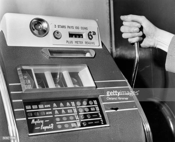 Fruit machine, one of the many which took over ?10 000 in Britain's clubs.