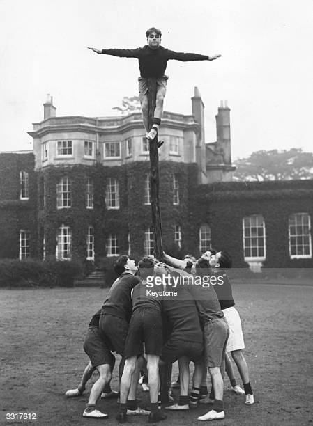 Group of boys from London Boy's Clubs train in the grounds of Woodrow High House, Amersham, in preparation for the Inter-Group Competitions.