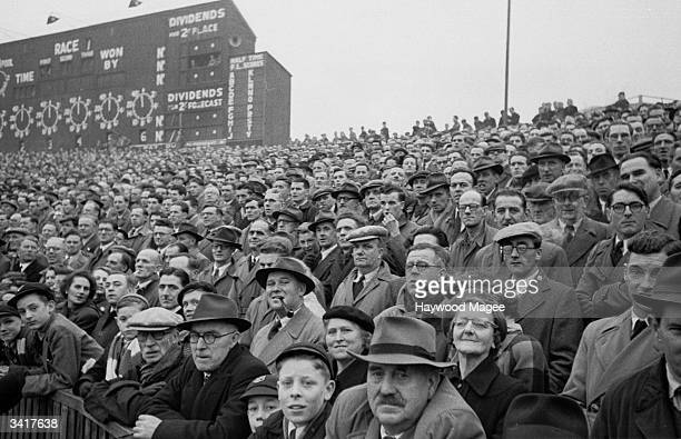Bristol Rovers supporters watch their team in action Original Publication Picture Post 6864 Bristol Rovers No Buy No Sale pub 1954
