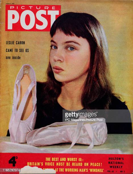 Franco-American actress and dancer Leslie Caron is featured for the cover of Picture Post magazine. Original Publication: Picture Post Cover - Vol 62...