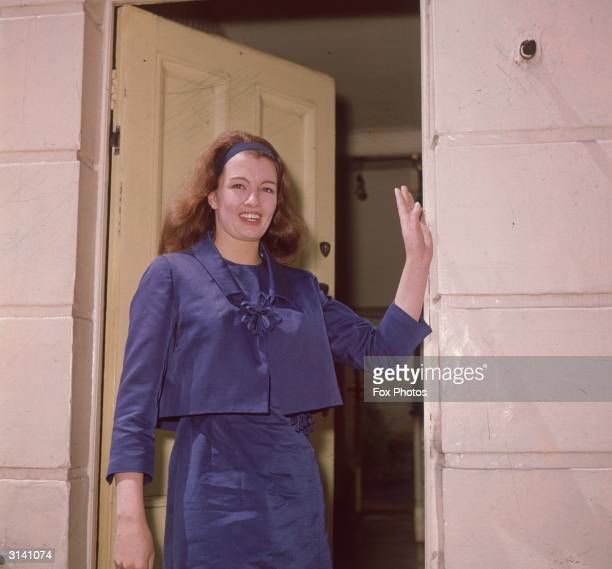 Society girl Christine Keeler stands outside her home in Linhope Street north west London shortly after her release from prison She became famous for...