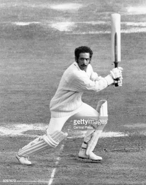Abid Ali of India bats at Old Trafford