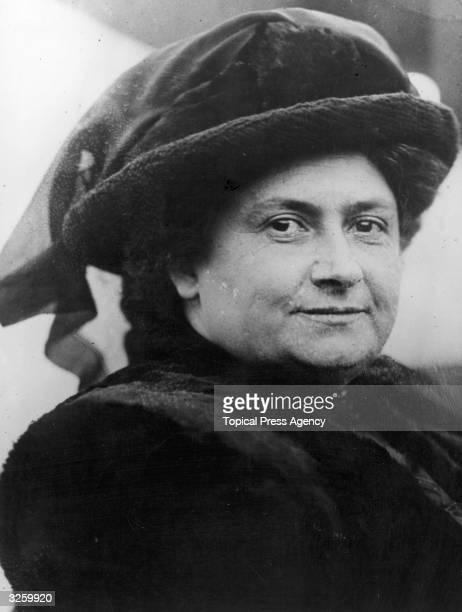 Italian physician and educationalist Maria Montessori
