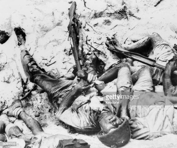a dead japanese soldier  who shot himself rather than