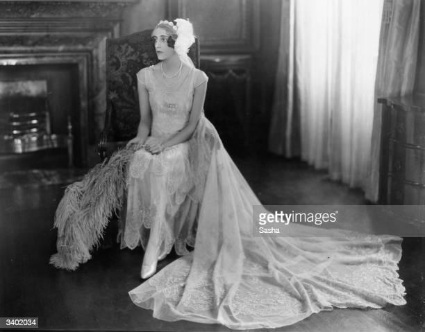 A portrait of debutante Miss Vivian Goldsmid