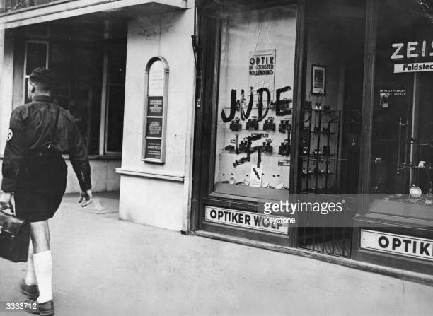 A jewish shop in Vienna closed by the Nazi's
