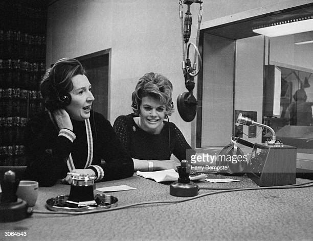Jean Metcalfe and Judith Chalmers presenting a BBC Radio show 'Two Way Family Favourite'.