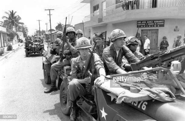 US Marines in Dominica during a period of unrest