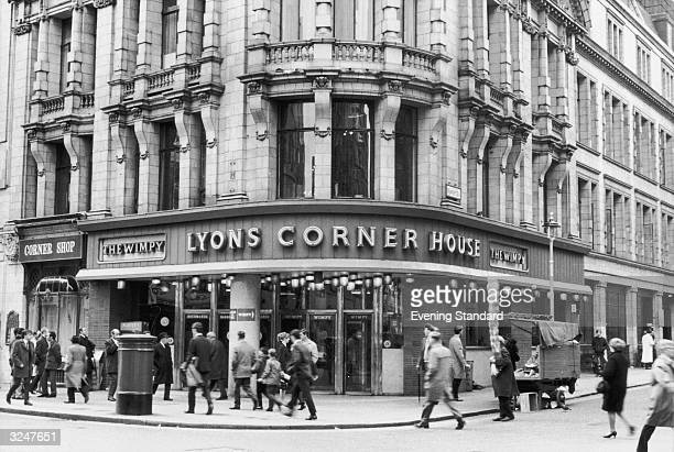 The Lyons Corner House cafe on the corner of Rupert Street and Leicester Square London