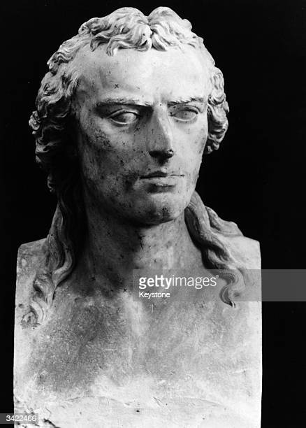 A statue of German poet playwright philosopher and historian Friederich Von Schiller sculpted by Dannecker
