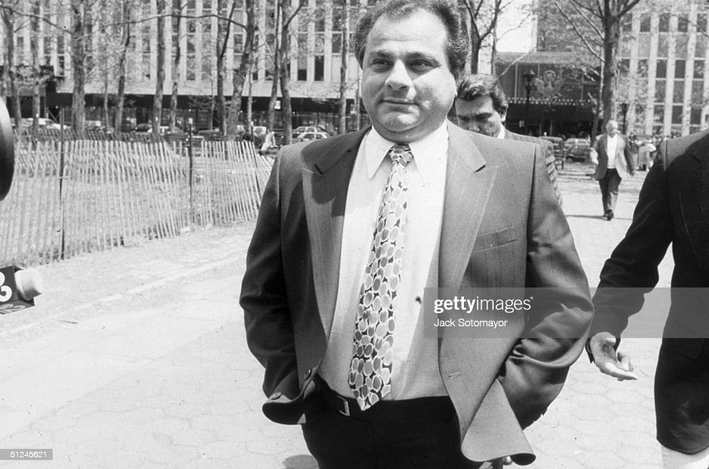 9th May 1988, American mobster Gene Gotti, brother of John Gotti, arrives for his own multi-million drug ring heroin trial at federal court, New York City. He was later convicted.