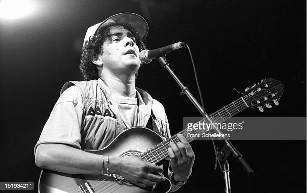 9th MAY: Cape Verdean musician Gerard Mendes performs live on stage at the Africa Mama Festival in Delft, Netherlands on 9th May 1987.