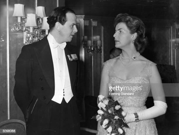 The Duke and Duchess of Devonshire at the Dorchester
