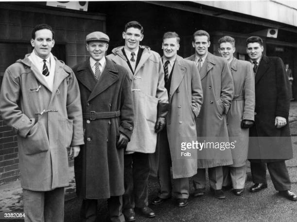 The team representing Great Britain in an International Swimming Contest against France Holland Hungary Sweden and the USSR in Moscow at Waterloo Air...