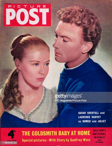 Laurence Harvey and Susan Shentall as Romeo and Juliet are featured for the cover of Picture Post magazine Original Publication Picture Post Cover...