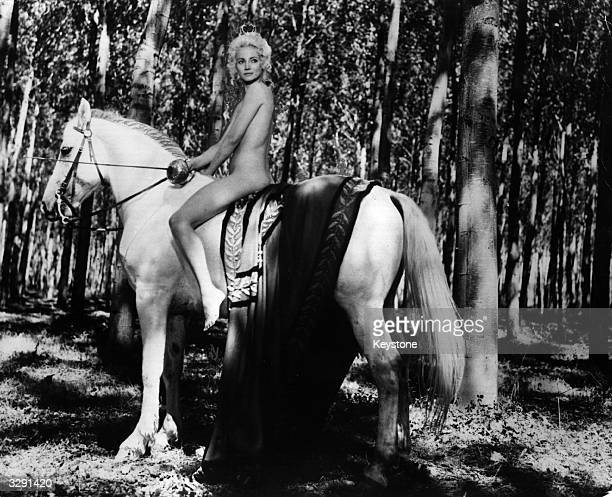 American actress Lucretia Love in her role as Lady Godiva an English noblewoman of the 11th century It is said Lady Godiva rode naked on horseback...