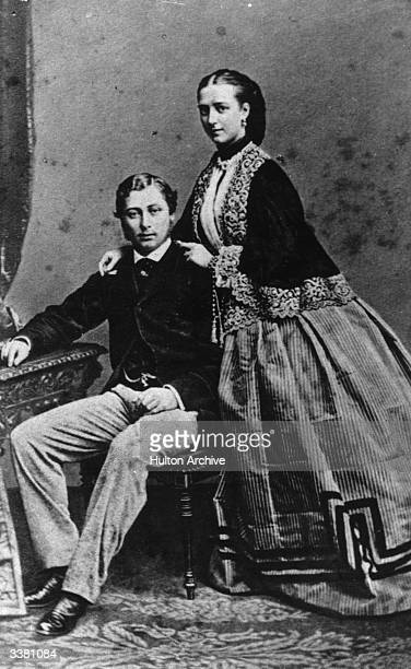 The Prince of Wales , who was to become Edward VII in 1901 after the long reign of his mother Queen Victoria, with Princess Alexandra .