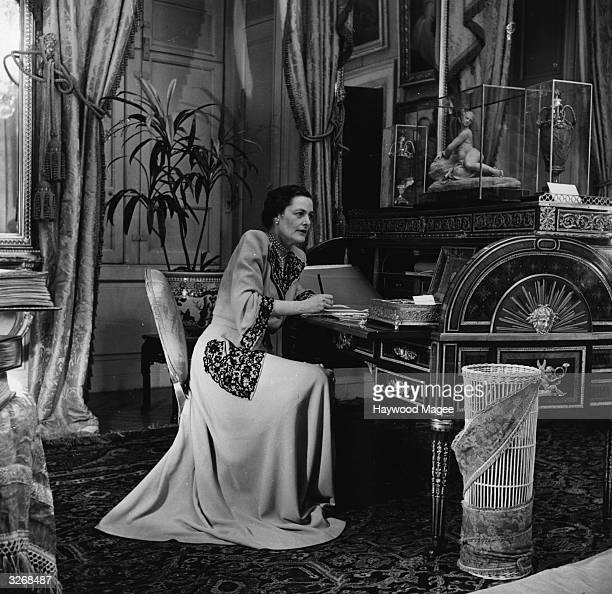 Mary Cadogan wife of the 10th Duke of Marlborough at Blenheim Palace Oxfordshire the family seat Original Publication Picture Post 5118 A Duke Keeps...