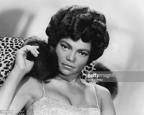 American singer and actress Eartha Kitt decked in leopard skin and furs for her London stage show 'Talk of the Town' a 45minute programme of old and...