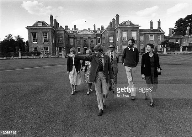 Viscount Althorp guides public parties around the stately pile in Northamptonshire.